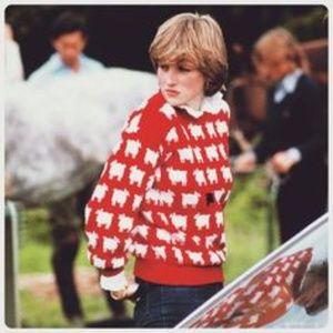 Vintage Lady Diana Black Sheep Sweater Medium